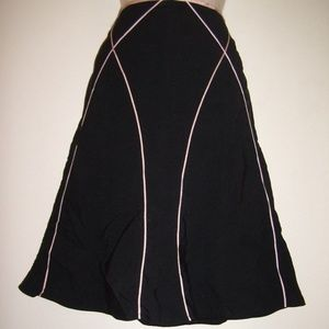 Vintage Piping Summer Soft Comfy Career Skirt
